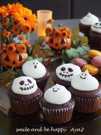 ハロウィン♪ おばけ&ジャックのカップケーキ - smile and be happy