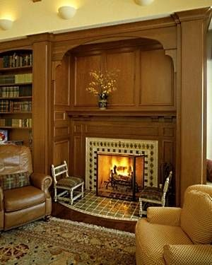 Cozy Reading by the Fireplace | The inglenook fireplace designs featured here showcase a vast array of ...