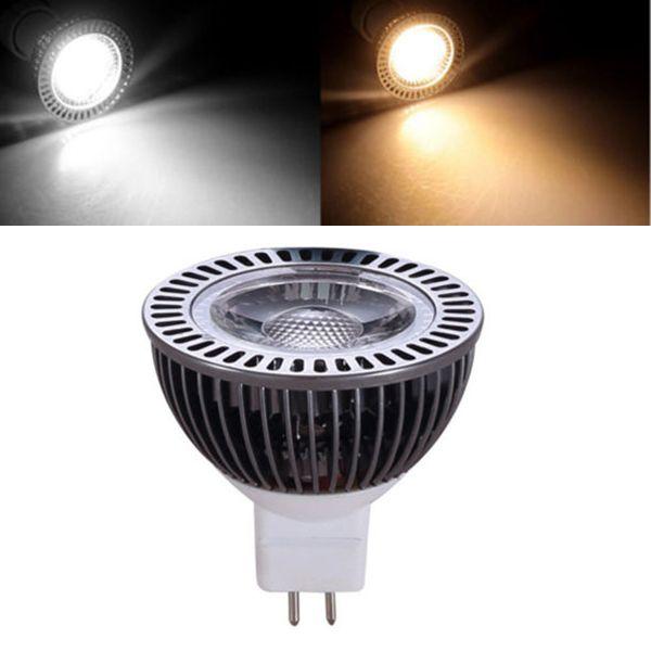 Mr16 5w Warm White Pure White Cob Led Spotlight Bulb Dc8 24v Led Spotlight Spotlight Bulbs Bulb