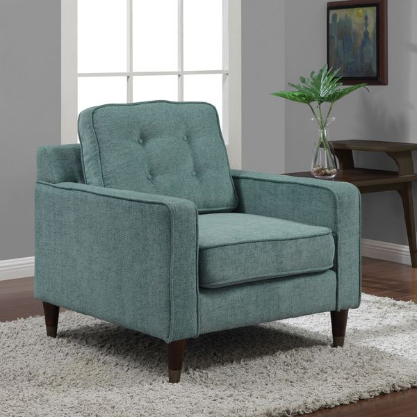 Jackie Aqua Arm Chair   Overstock™ Shopping   Great Deals On Living Room  Chairs