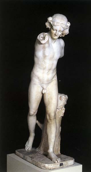 Hipnos, dios del sueño.  Es un dios de la mitología grecorromana.  Estatua del 120-130 d.C.
