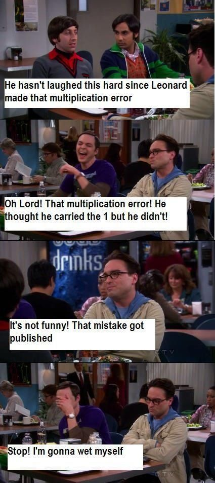 Big Bang Theory - multiplication error :)