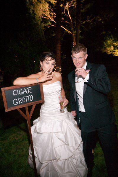 The hip and trendy cigar bar for wedding receptions.