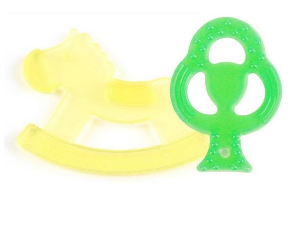 Creative Cartoon Shaped Baby Dental Care Infant Silicone Teether Toothbrush Training Teethers For 3M+ Kids 2pcs/lot