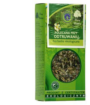 Ziołowa herbata o naturalnym składzie, przyspieszy wydalanie substancji toksycznych. Polecana przy długotrwałych terapiach lekami.
