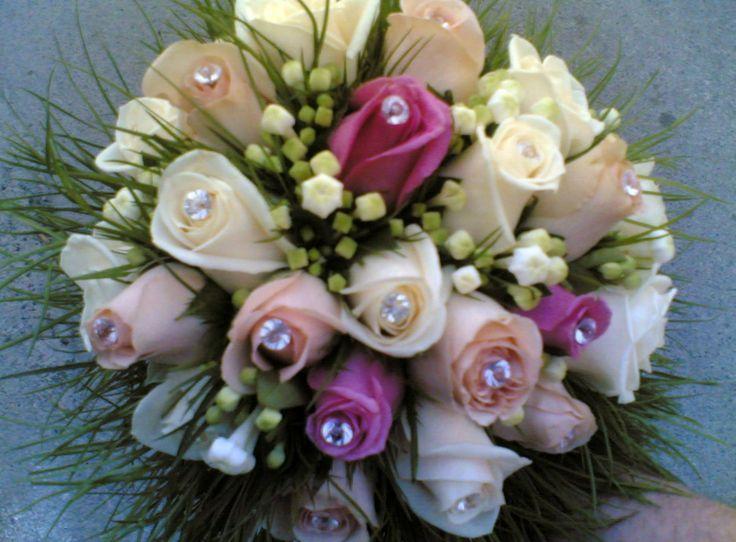 bouquet sposa #rose e #bouvardia