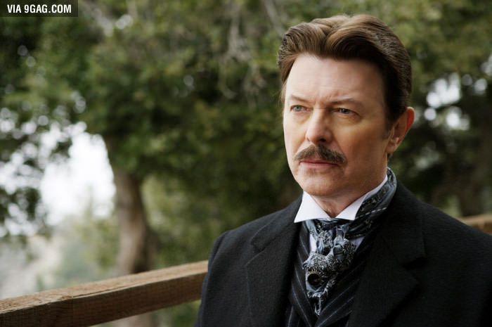 David Bowie as Nikola Tesla in The Prestige (2006) - 9GAG