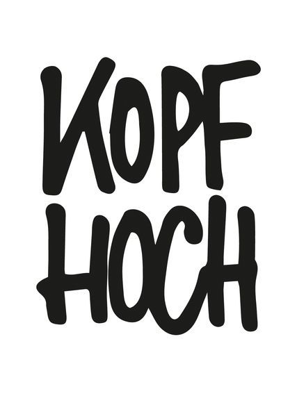 """Postkarte """"Kopf hoch schwarzweiß"""": Online vers…"""