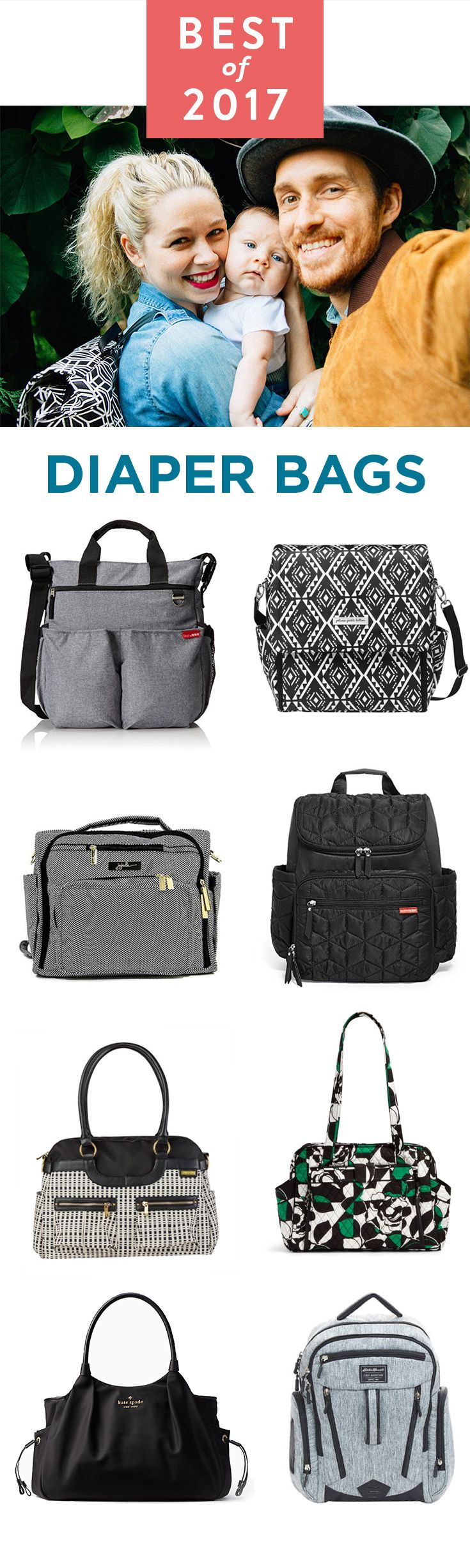 Take your family show on the road (or at least to the park) with the ease and style of the best diaper bags.