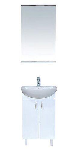 МЕБЕЛЬ MISTY ЛАДОГА 50  Мебель Misty Ладога 50: http://www.vivon.ru/furniture/mebel/mebel-dlya-vannoy-ladoga-50/ Удобный вариант для небольшой ванной!  Комплект мебели для ванной комнаты MISTY Ладога 50 имеет встроенную раковину во вместительную тумбу и навесное зеркало с полочками.  Приобретайте #мебель_для_ванной #MISTY Ладога 50 в интернет-магазине сантехники ВИВОН!