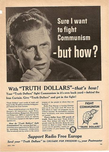 """Sure I want to fight communism – but how?"" With Truth Dollars (and presumably some Freedom Fries) - that's how!"