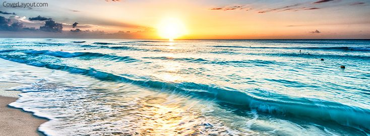 Beach Waves Facebook Cover coverlayout.com