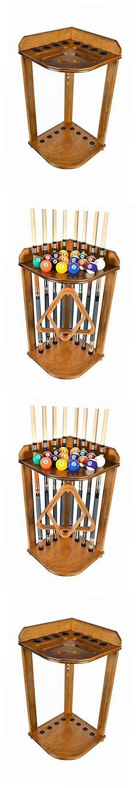 Ball and Cue Racks 75185: Pool Cue Rack Only - Billiard Stick Stand Holds 8 Cues And Ball Set Oak Finish -> BUY IT NOW ONLY: $127.66 on eBay!