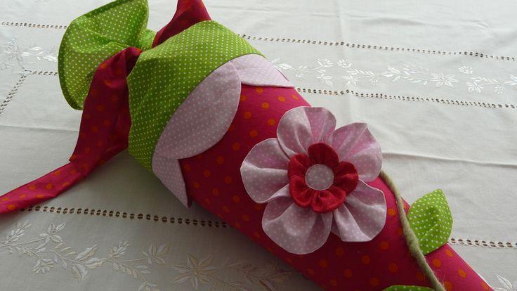 Schultüte mit Blume von martasnest auf DaWanda.com