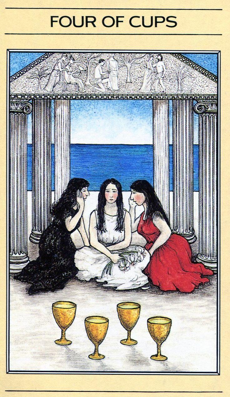 Mythic tarot four of cups tarot cards lotus tarot diy