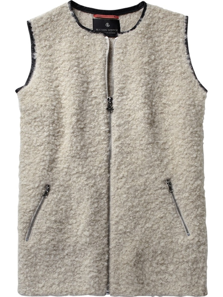 Sleeveless knitted 'shearling-look' gilet - Scotch & Soda