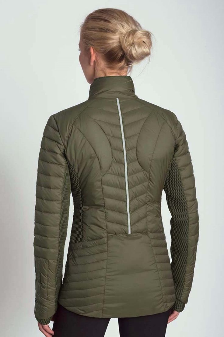 Alfa Insulated Jacket Take on any fall day in style by layering up in our light air mesh trim jacket. - Fitness Women's active - http://amzn.to/2i5XvJV