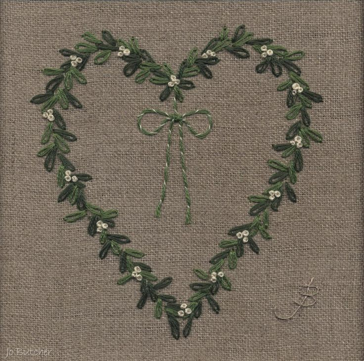Jo Butcher, Embroidery Artist - Gallery - Category: Hearts - basics