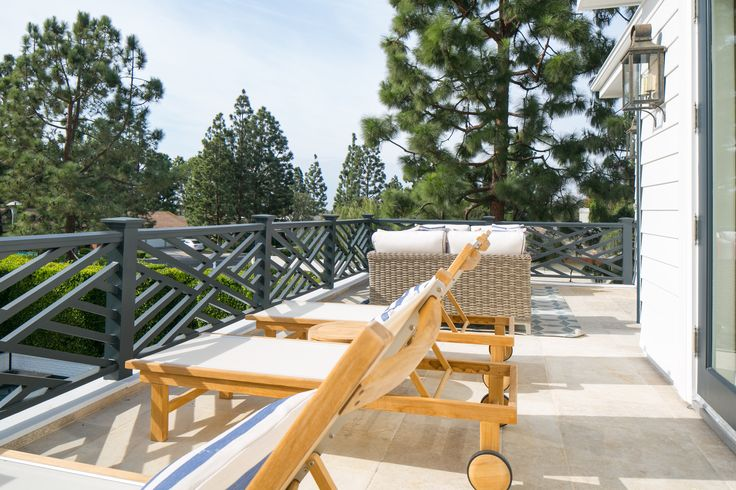patio space + lounge chair + balcony