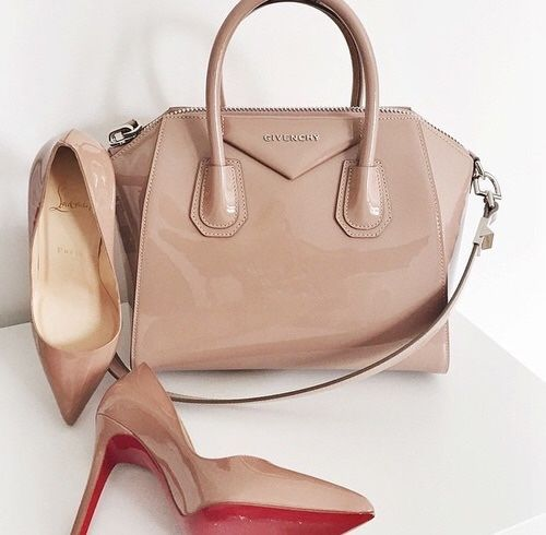 Givenchy nude bag with nude pump
