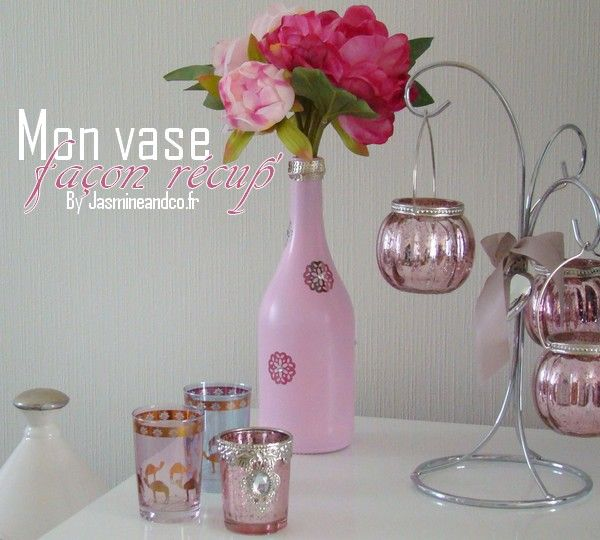 bouteille verre vase peinture diy pinterest glass bottles bottle and vase. Black Bedroom Furniture Sets. Home Design Ideas