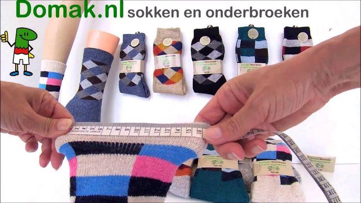 Wollen sokken voor dames met blokjes.