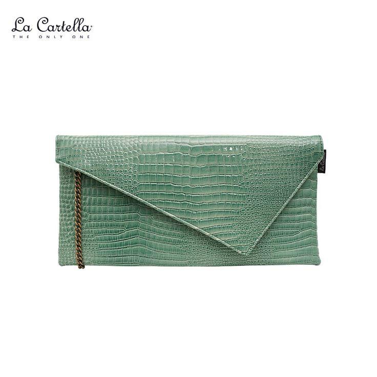 La Pochette Cocco Green Water #lacartella #knob_design