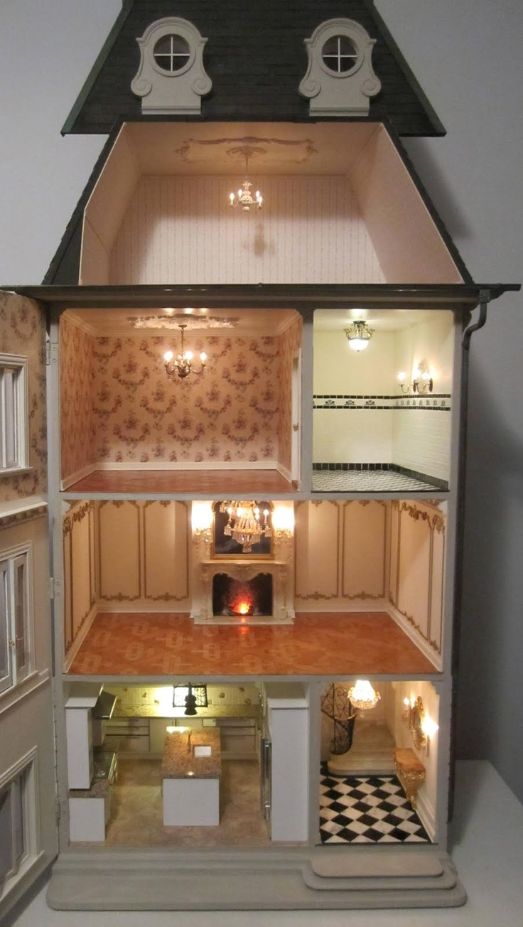 Best Images About Doll House Ideas  Miniature Tutorial On - Dolls house interior