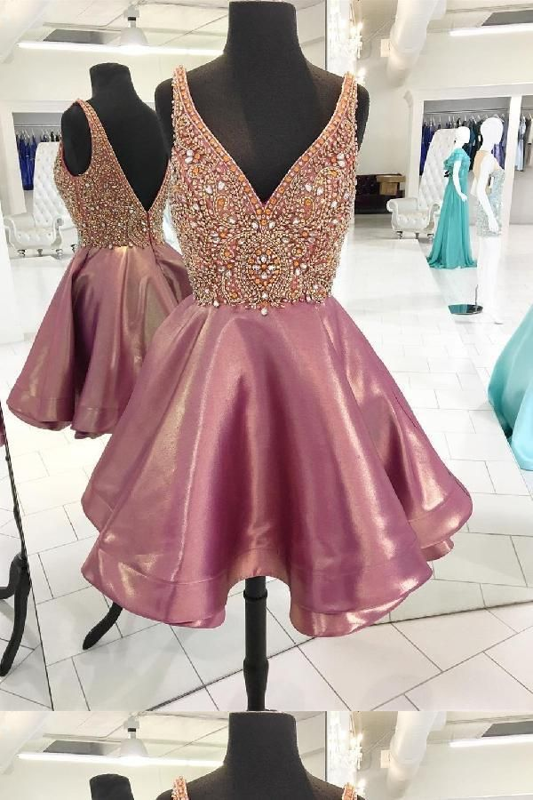 cb1b7b14b93 Hot Sale Feminine Pink Homecoming Dress