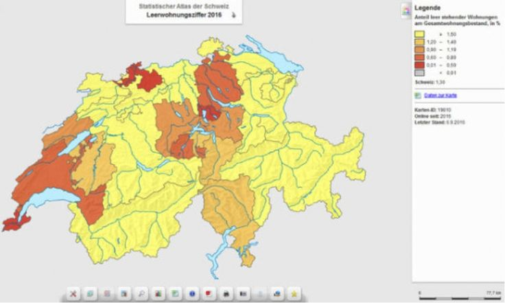 Wo die meisten Wohnungen in der Schweiz leer stehen.