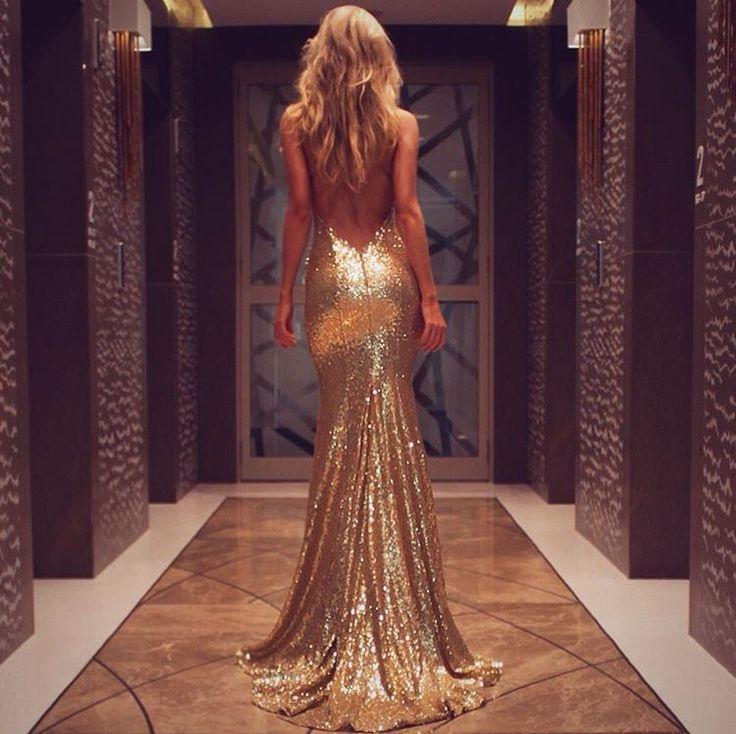 #gold #dress #champagne