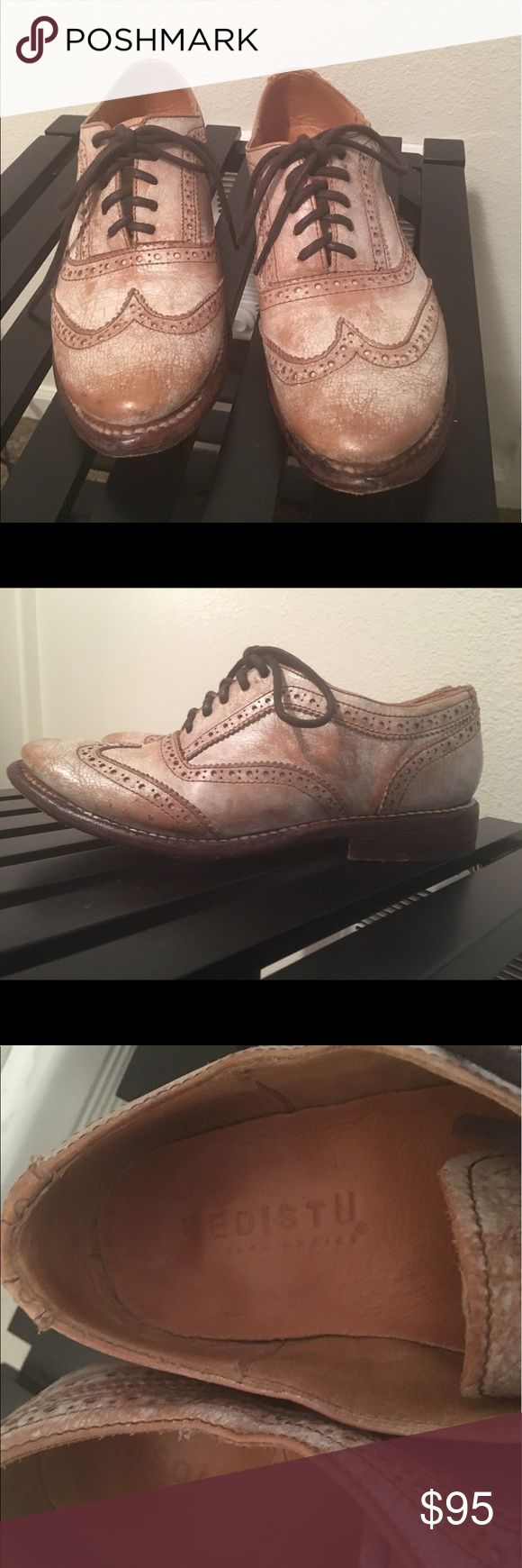 Bed Stu Lita wingtip oxfords Pre-owned Bed Stu Lita wingtip oxfords. In great condition! Have a finished distressed finish. Size 6. Bed Stu Shoes Flats & Loafers