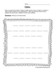 Worksheets Haiku Worksheet 17 best images about haiku on pinterest english creative worksheet 2