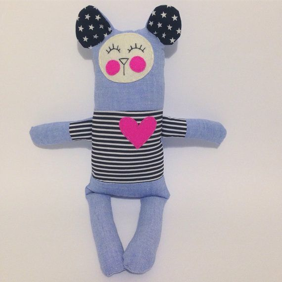 Logan the plush toy for baby cuddles $25 by LilMeegs on Etsy