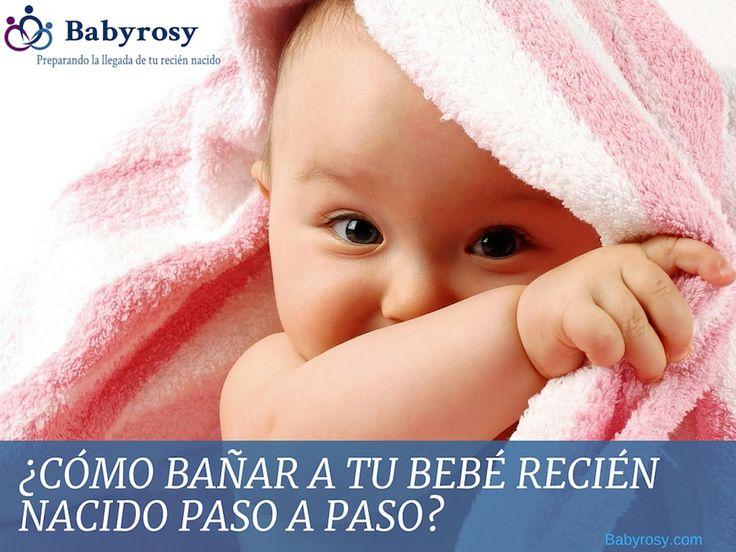 ¿Cómo bañar a tu bebé recién nacido paso a paso?