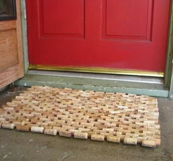 12 best tappi di sughero images on pinterest wine corks for Wine cork welcome mat