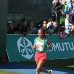 12 position Ethiopia's Tsion running for Old Mutual sponsored by Adidas and 32Gi