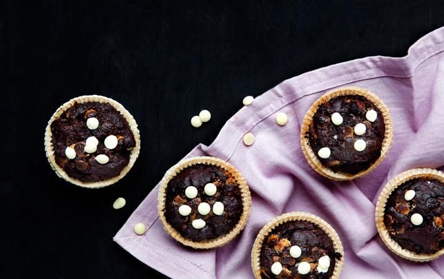 Triple chokolademuffins
