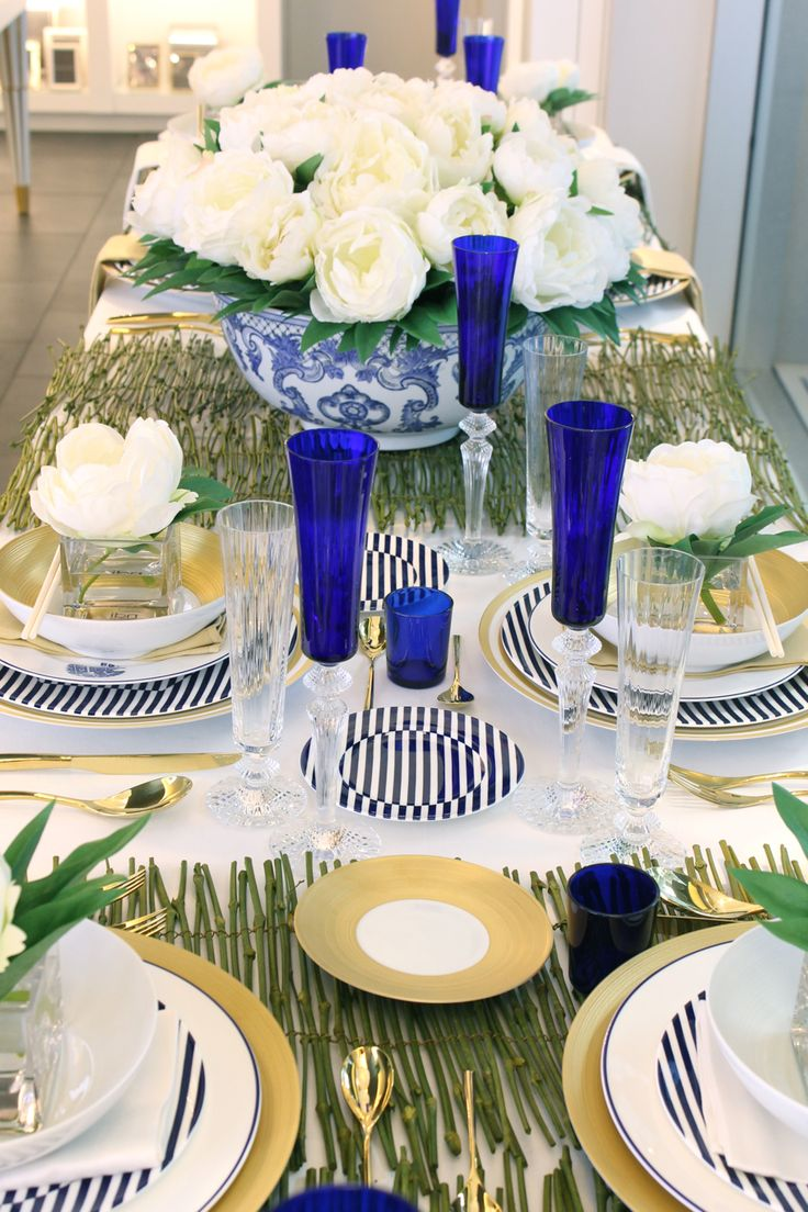 Tabletop design by Patrick James Hamilton Designs for Michael C. Fina #tabletop #dining