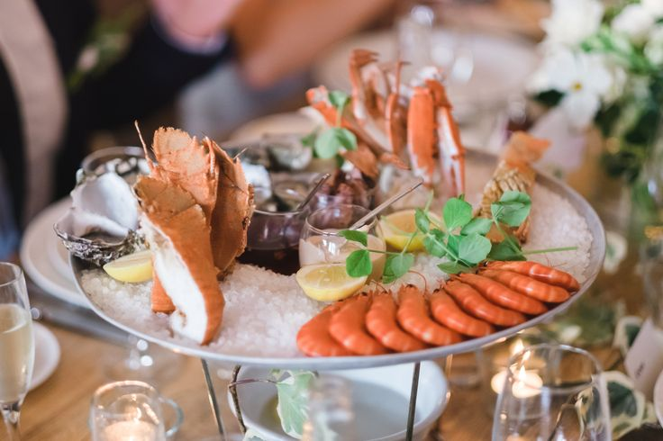 Seafood Platters are a hugely popular choice for our seaside venue,