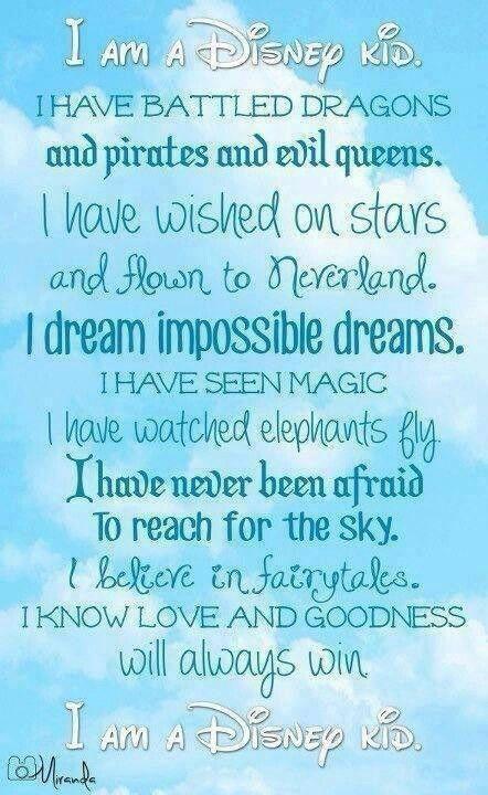 I am a Disney kid.