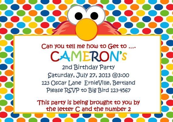 elmo inspired invitation baby elmo invitations 1st birthday party invitation custom elmo invitation sesame street invitation on etsy 899 pinterest - Elmo Birthday Party Invitations