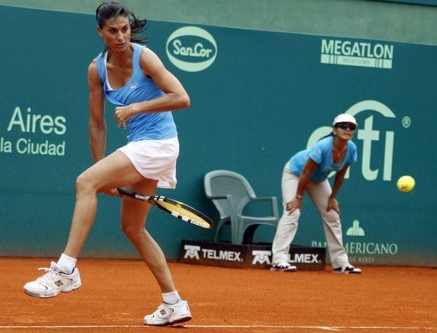 "Gabriela Sabatini ...for God's sakes, she invented the ""sabatweenie"". Legendary tennis player."