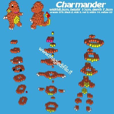 Il Pokemon Charmander schema tutorial gratuito perline da stirare in 3d.jpg (296.39 KiB) Osservato 10 volte