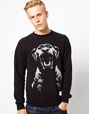 Supremebeing Crew Sweatshirt Panther Print
