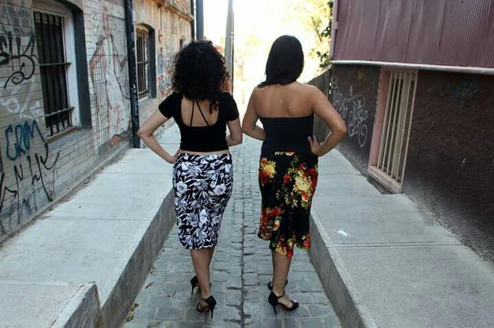 Indumentaria para tango Val, faldas, skirt,  desde Valparaíso,  Chile