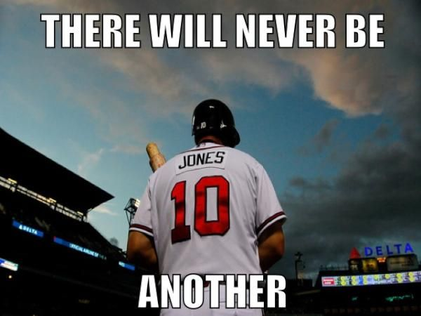 "Chipper will always be one my favorite ""Braves"""