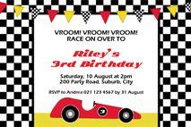 Racing Car Birthday Party Printables.