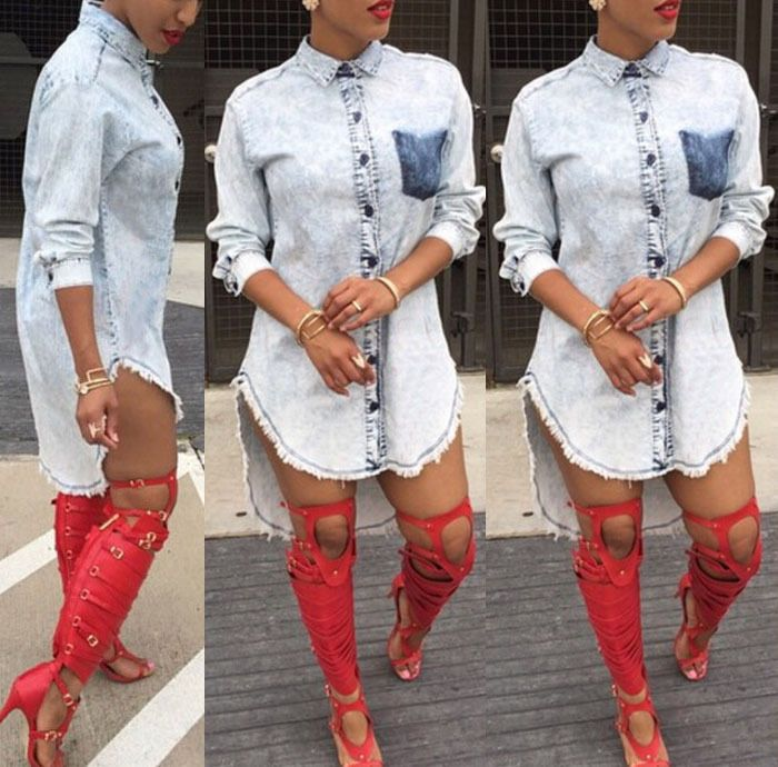 Available Now on our store:  Cool women punk d... Check it out here ! http://mamirsexpress.com/products/cool-women-punk-dress-new-womens-casual-short-spring-autumn-club-mini-dress-long-sleeve-denim-jean-shirt-dresses?utm_campaign=social_autopilot&utm_source=pin&utm_medium=pin
