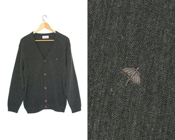 Vintage cardigan sweater. Minimal minimalist. by LiveToLiveVintage